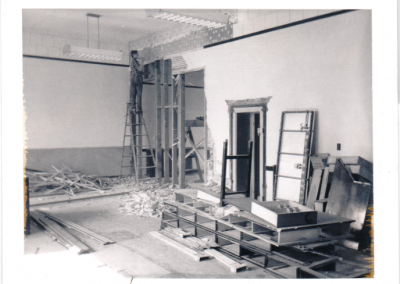 Old bank being turned into the library - August 1968