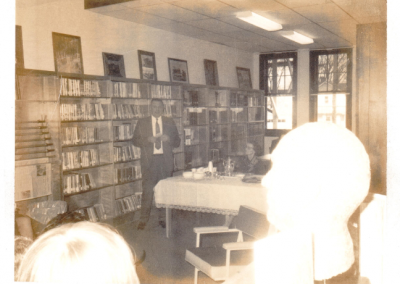 Opening April 1970 on Main St. Pictured is the Library Board President